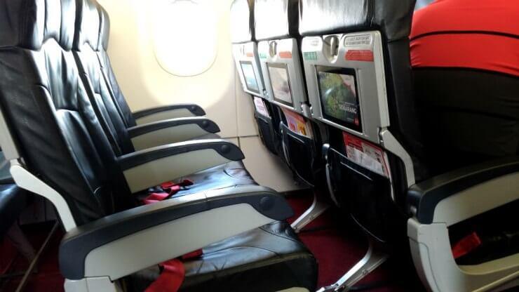 エアアジア座席の広さ