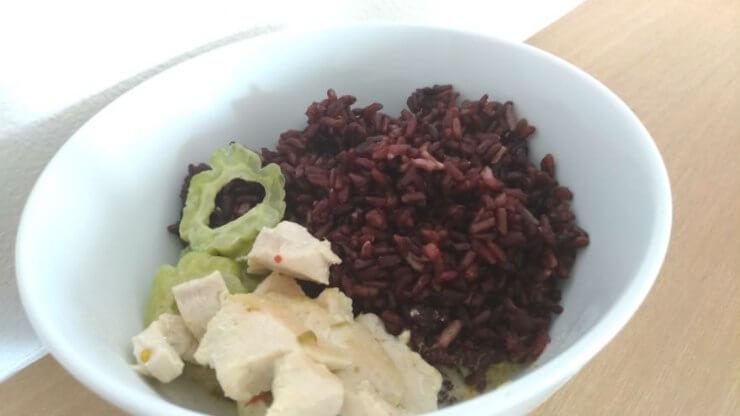 タイカレーと玄米&黒米うますぎ